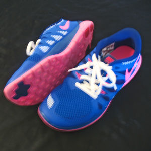 Girl's Nike Free 5.0 Shoes Sneakers 644446 602